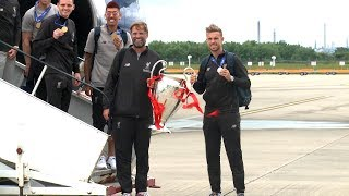 Video Champion League Champions Liverpool Arrive Back In UK With Trophy MP3, 3GP, MP4, WEBM, AVI, FLV Juli 2019