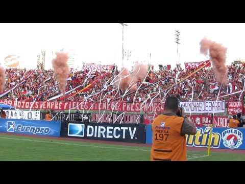 Recibimiento Barra del Caracas FC | CFC - Málaga | SoloFutbolve.com.ve @SoloFutbol_VE - Los Demonios Rojos - Caracas