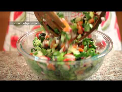 Salad - How to make fattoush salad at home in easy steps. Fattoush salad recipe. Fattoush salad is a Mediterranean salad. Fattoush salad is low in calories and rich ...