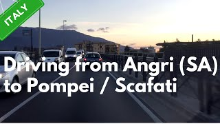 Scafati Italy  city photos gallery : Driving from Angri (SA) to Pompei/Scafati | Italy | 04/03/2016