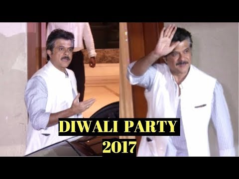 Anil kapoor At Sanjay Dutt's Diwali Party 2017