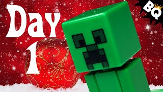 Custom LEGO Minecraft Advent Calendar Day 1 Unboxing