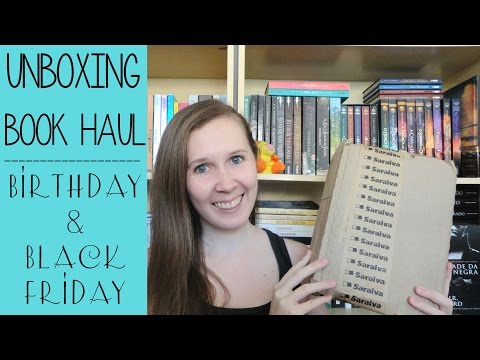 Unboxing Book Haul | Black Friday + aniversário