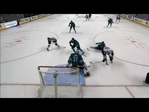 Video: Sharks' pull Jones after Coyotes score three goals on first five shots