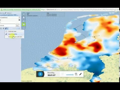 How to download open source yearly rainfall averages for the Netherlands