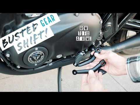 How To: Broken Gear Shift Lever (Custom 2017 Triumph Bonneville T100 Black!)