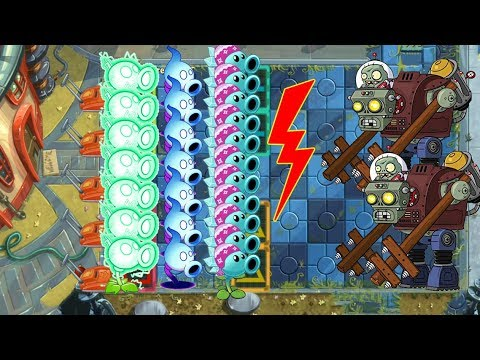 Snow Pea Vs Shadow Peashooter Vs Electric Peashooter Vs Gargantuar Pvz 2