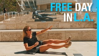 Only here for the L.A. Info...skip to 7:00 Los Angeles is expensive, but the best stuff is free! Don't get stuck in the traffic and tourist...