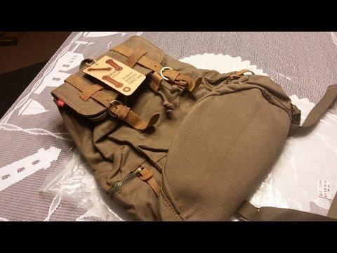 Augur Jans vintage canvas backpack