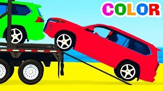 Learn colors suv cars transportationOther fun videos:Learn colors and long carshttps://youtu.be/pbazhAlSTlcFun helicopter for kidshttps://youtu.be/sIIDm0ZqpykLearn color with helicopterhttps://youtu.be/rgSvWcdMM-8Color tractors on truckhttps://youtu.be/KKeEiA8fhVoMotorbike and carshttps://youtu.be/ZesCBhGJC7oPolice cars transportationhttps://youtu.be/hrd9qWGHvrc