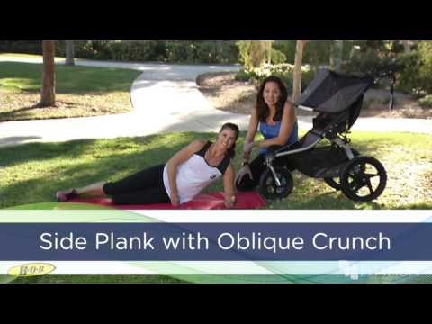 BOB & FIT4MOM Stroller Exercises - Side Plank w/ Oblique Crunch