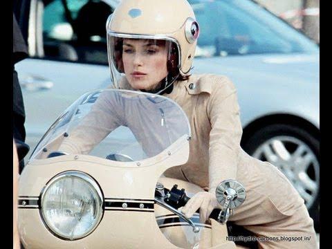 Kiera Knightley Riding Ducati Motorcycle