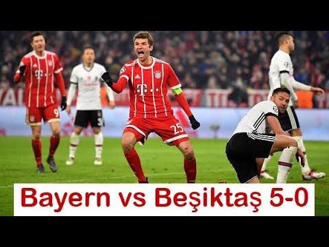 Bayern Munich vs Beşiktaş 5-0 EUFA CHAMPS LEAGUE Highlights HD 20/02/18