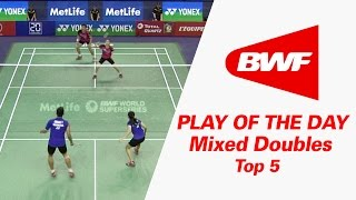 Video Mixed Doubles - Top 5 | Play Of The Day | Badminton MP3, 3GP, MP4, WEBM, AVI, FLV September 2018
