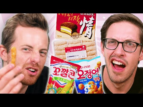 The Try Guys Try Korean Snacks For The First Time