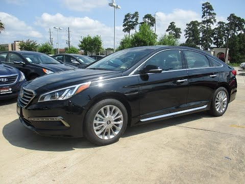 2015 Hyundai Sonata Limited w/ Tech Pkg. Start Up, Exterior/ Interior Review