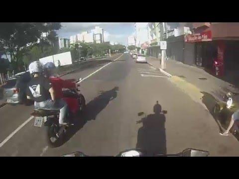 Desumanos (Moto Grupo) representando o natal em Passo Fundo