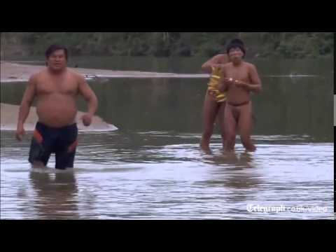 Isolated indigenous tribe make contact with outside world in Brazil