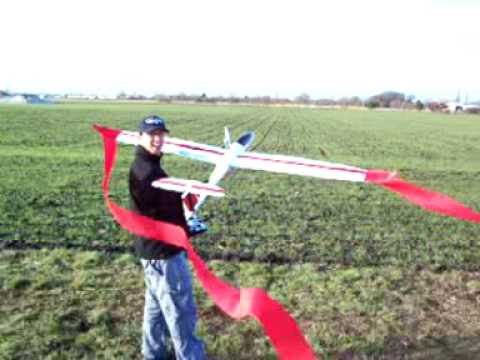 DG1000 rc - Down the field again, time to put the streamers on. Great landing if i do say! Lol.