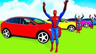 Video COLOR TESLA CARS & Boats w/Superheroes Cartoon for Kids and Babies w Nursery Rhymes MP3, 3GP, MP4, WEBM, AVI, FLV Mei 2019