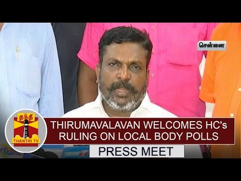 VCK-Chief-Thirumavalavan-welcomes-HCs-Ruling-on-Local-Body-Polls-Thanthi-TV