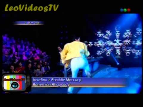 Josefina Scaglione es Freddie Mercury Tu cara me suena 3 #GH2015 #GranHermano