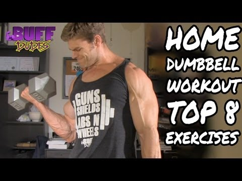 Home Workout Routine – Top 8 Dumbbell Exercises