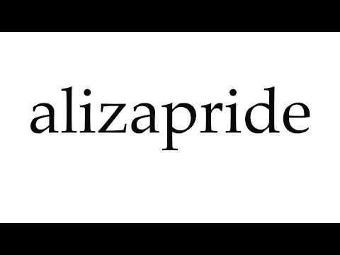 How to Pronounce alizapride