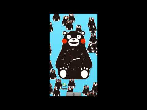 Video of Kumamon Clock Live Wallpaper