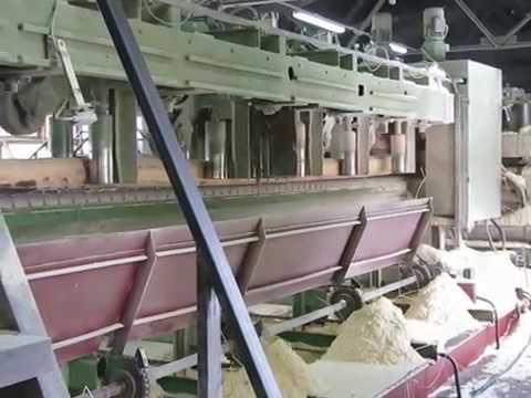 Видео Приемный роликовый стол - брусоперекладчик