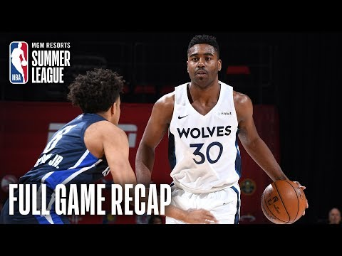 Video: MAVERICKS vs TIMBERWOLVES | Minnesota is Moving On | MGM Resorts NBA Summer League