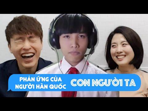 Phản ứng của người Hàn Quốc khi xem Clip nhạc chế Con Người Ta