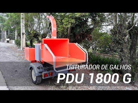 Triturador de galhos trabalhando na limpeza urbana - Lippel PDU 1800 G