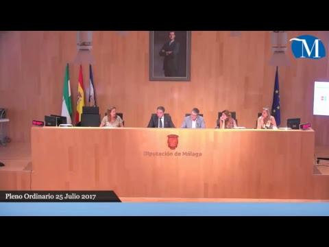 Pleno ordinario de la Diputación de Málaga del mes de julio