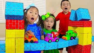 London Bridge is Falling Down | Wendy Jannie & Lyndon Pretend Play Nursery Rhyme Kids Songs
