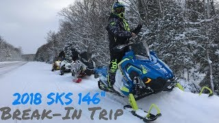 "5. First ride on the 2018 Polaris SKS 146"" - Break In trip"