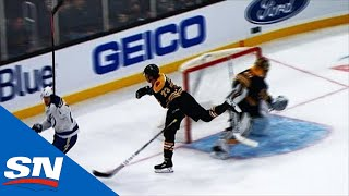 Brayden Point Splits Bruins Defence, Beats Tuukka Rask 0.8 Left In 1st Period by Sportsnet Canada