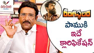 Video Paruchuri Clarifies About Snake Role in Ram Charan's Rangasthalam Movie   Paruchuri Palukulu MP3, 3GP, MP4, WEBM, AVI, FLV Desember 2018