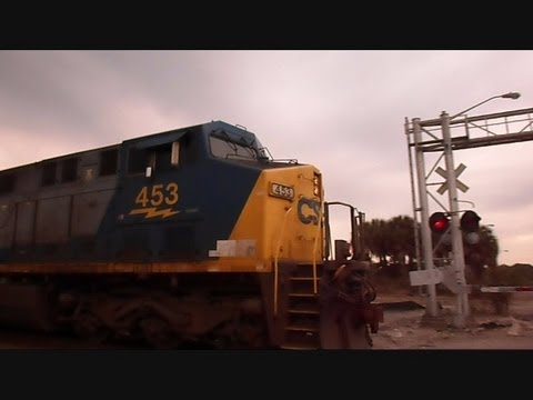 railroad - This is a video I made of a CSX train going through an abandoned railroad crossing that never opened to the public. It will soon be taken down and another se...