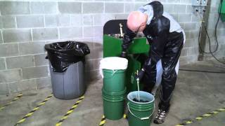 Waterborne Spray Gun Cleaner Clarification Recycling Process Video