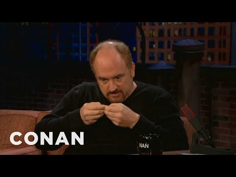 twitter - Watch CONAN @ http://teamcoco.com/video - Louis C.K. has the rare ability to live his life without looking at his phone all day.