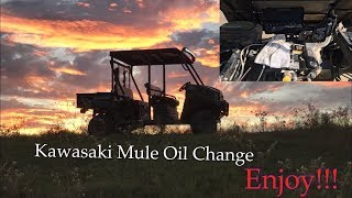 3. Kawasaki Mule Oil Change(All Steps)
