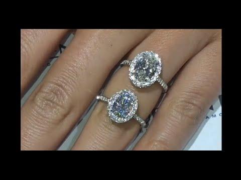 Moissanite VS Diamond: Oval Halo Rings