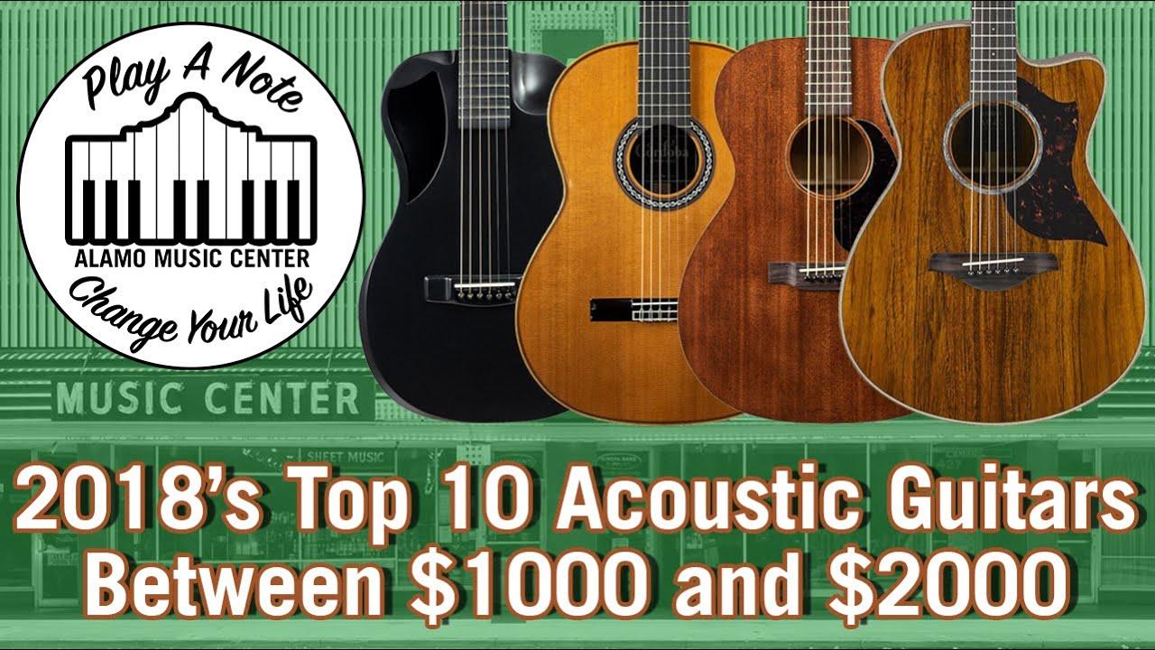 2018's Top 10 Acoustic Guitars Between $1000 and $2000 – Martin, Taylor, Cordoba, Yamaha, Journey