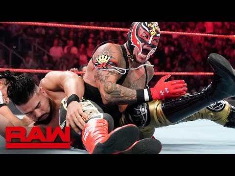Rey Mysterio vs. Andrade – 2-out-of-3 Falls Match: Raw, Aug. 12, 2019