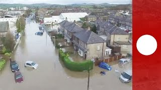 Cumbria United Kingdom  City new picture : Drone footage shows severe flood damage in Cumbria, UK