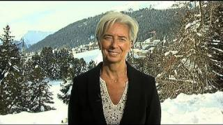 IMF Managing Director Christine Lagarde in Davos