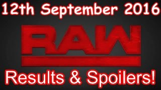 Nonton Wwe Raw  12th September 2016  Full Results And Spoilers  Highlights  Hd 1080p Film Subtitle Indonesia Streaming Movie Download
