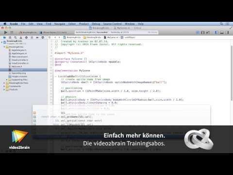iOS-Spieleprogrammierung mit SpriteKit Tutorial: Paddel erzeugen |video2brain.com