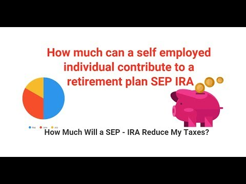 How much can a self employed individual contribute to a retirement plan SEP IRA